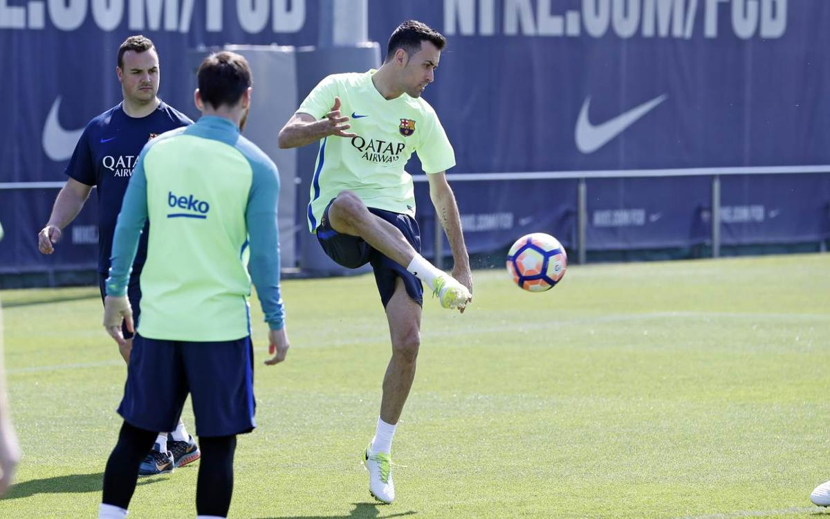 Sergio Busquets back in the squad to face Real Sociedad