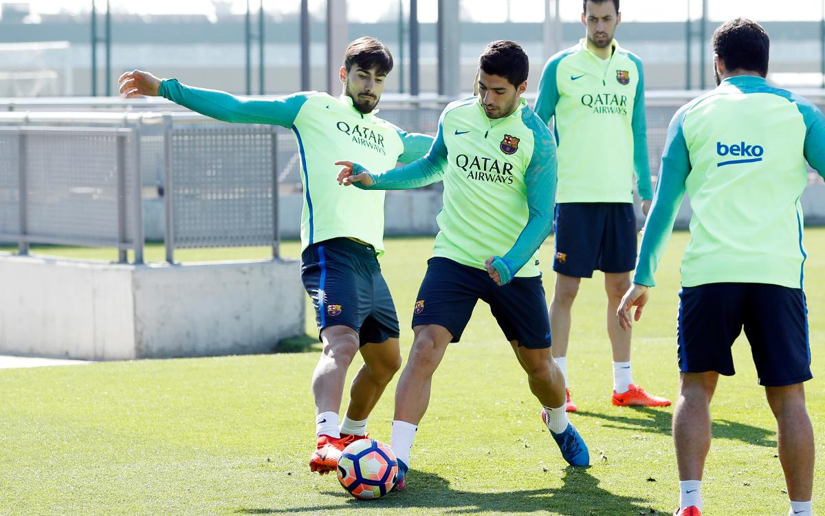 TRAINING: FC Barcelona back at work and preparing for Valencia
