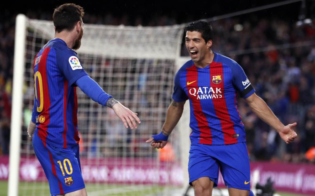 Messi et Luis Suarez dépassent les 50 buts en Liga avec le FC Barcelone