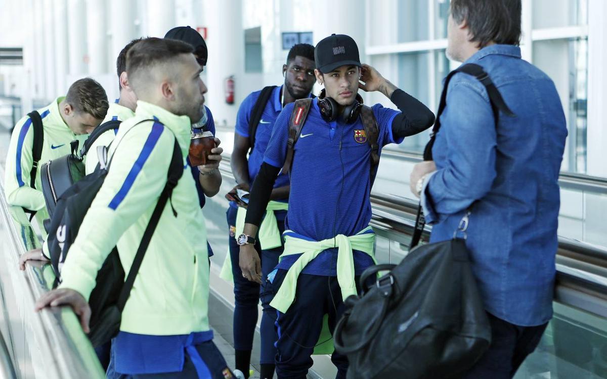 Squad arrive in Málaga
