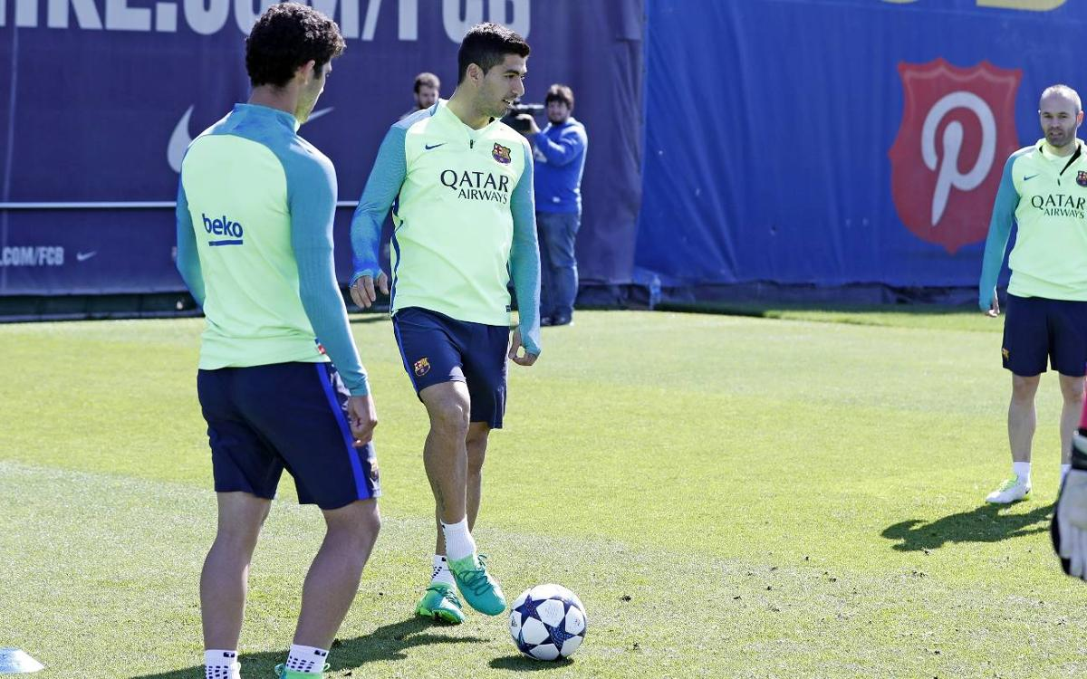 Training plan for a week in which the Champions League and the Clásico await