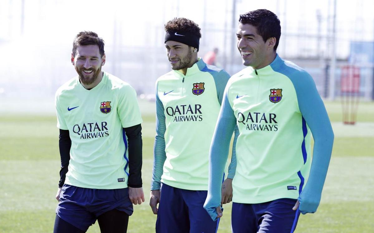 Last training session before the match against Sevilla