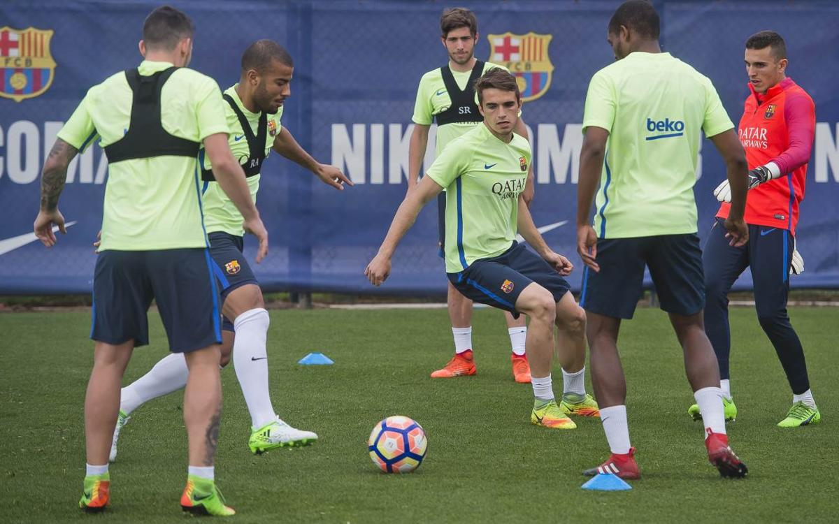 First training session for players not on international duty