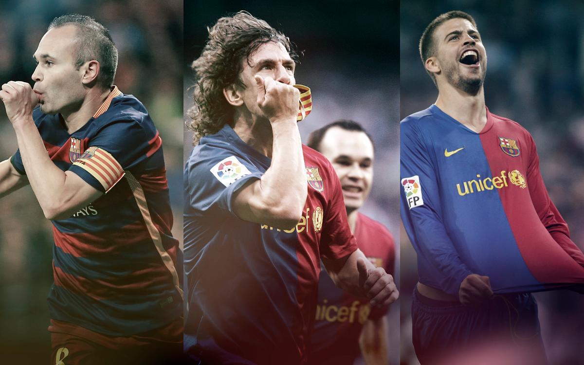 Les grans celebracions del FC Barcelona al Santiago Bernabéu