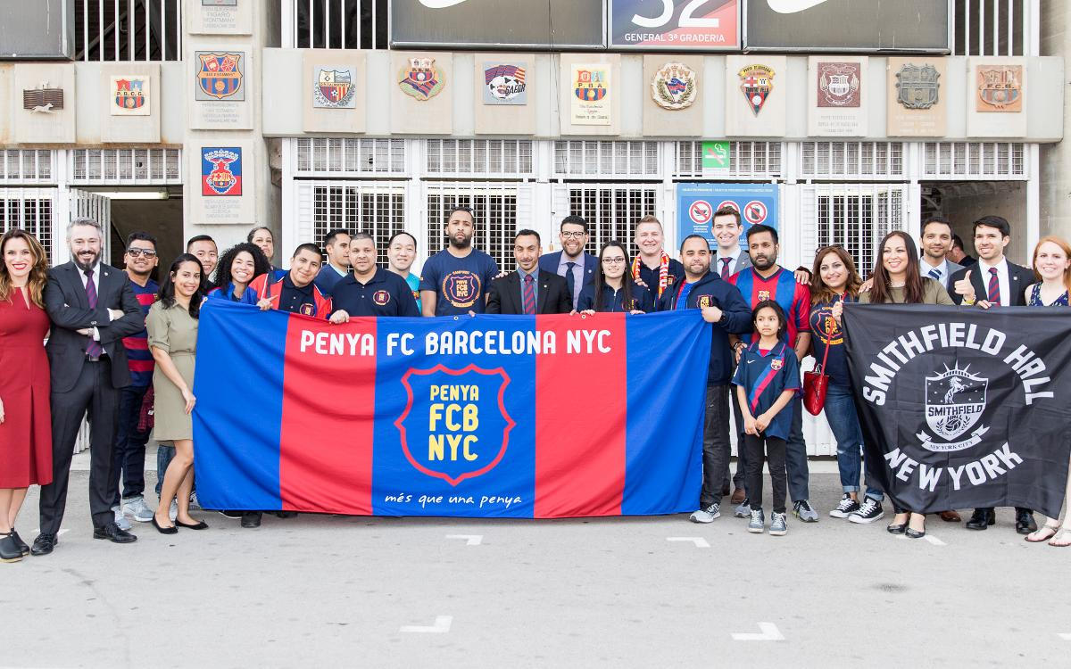 Penya FCB New York City visit Barcelona!