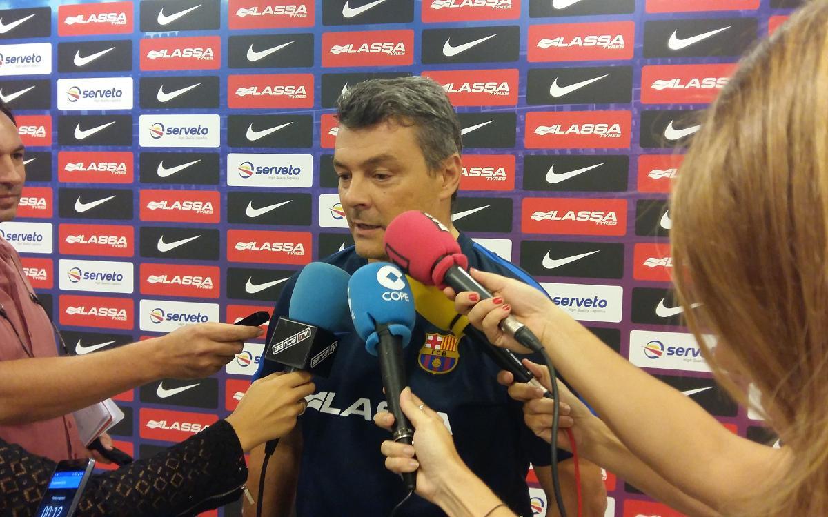 """Pascual: """"L'equip serà el mateix que va jugar a París"""""""