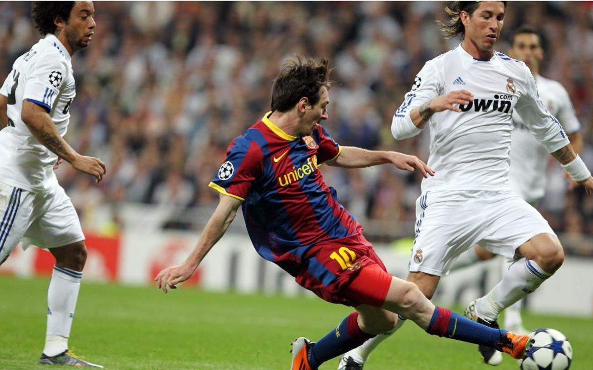 Grandes noches de Messi ante el Madrid