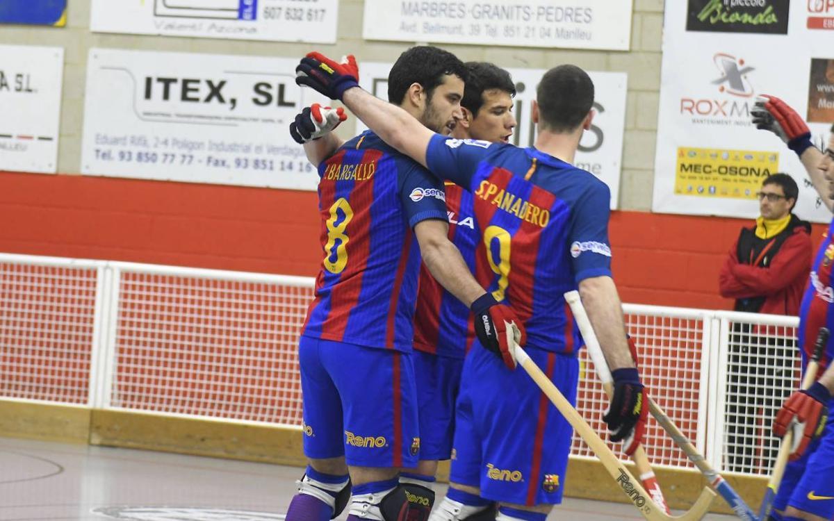 CP Manlleu - FCB Lassa: Remontada en un partido lleno de alternativas (1-2)