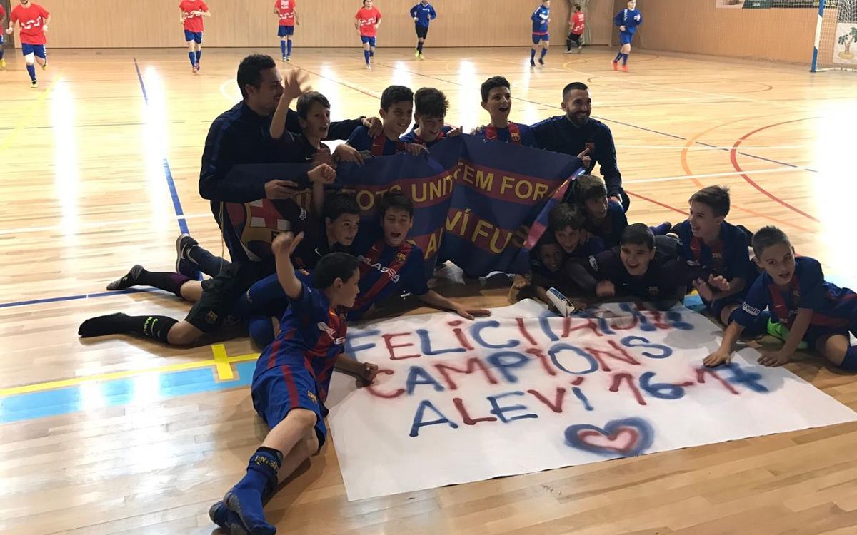 L'Aleví es proclama campió de lliga a Salou
