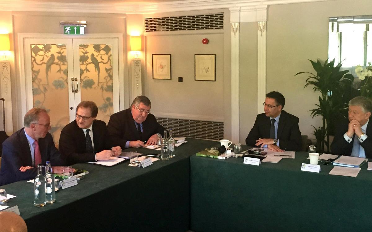 Bartomeu, en la ejecutiva de la ECA en Londres