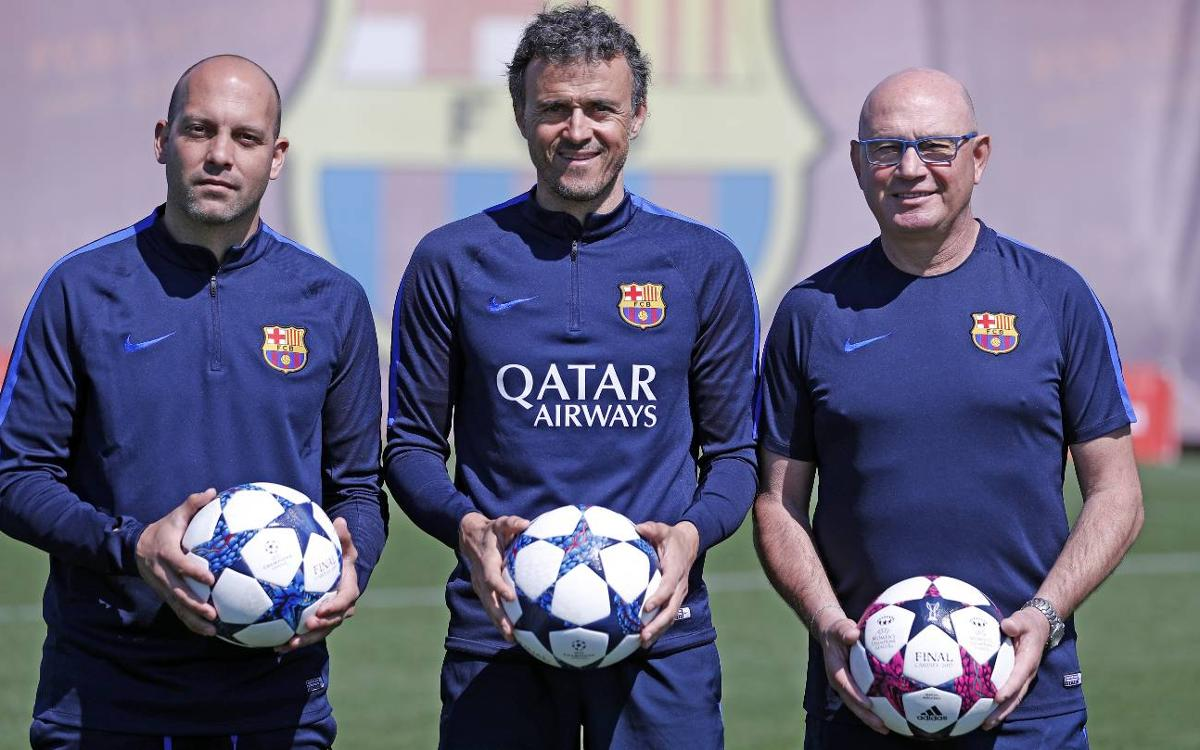 Els entrenadors blaugrana, units per Europa