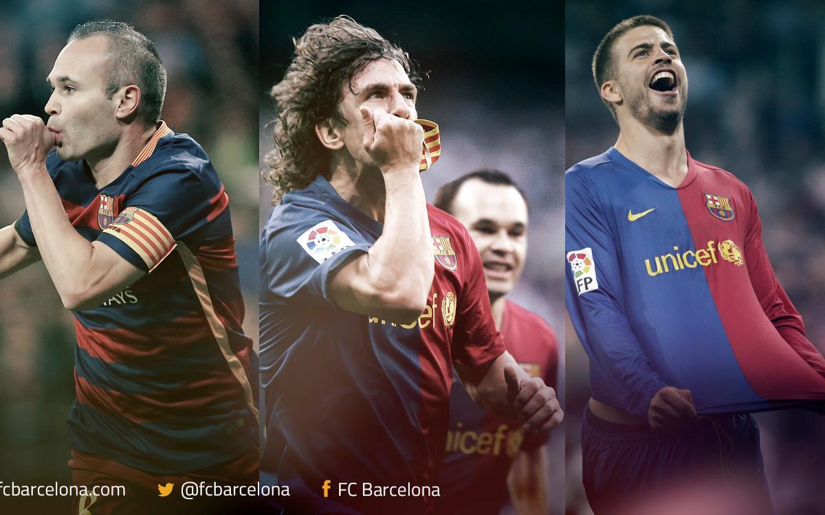 Famous FC Barcelona celebrations at the Santiago Bernabéu