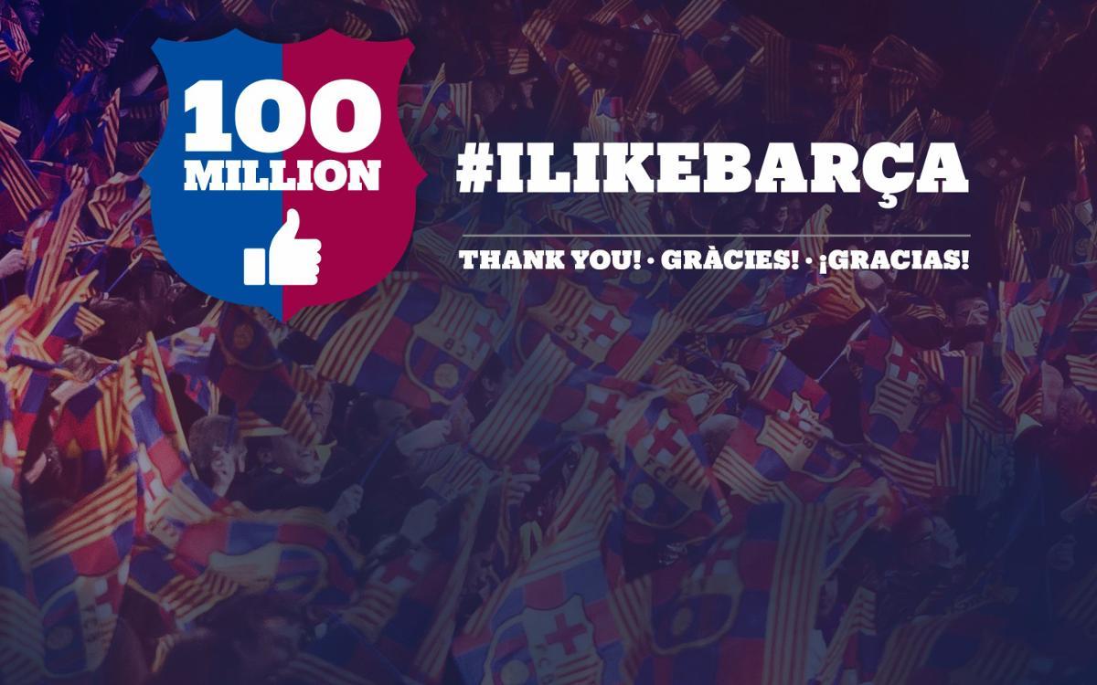 FC Barcelona reaches 100 million Facebook fans