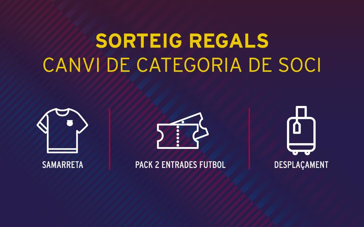 El Club premia el canvi de categoria dels socis amb sortejos de diferents obsequis