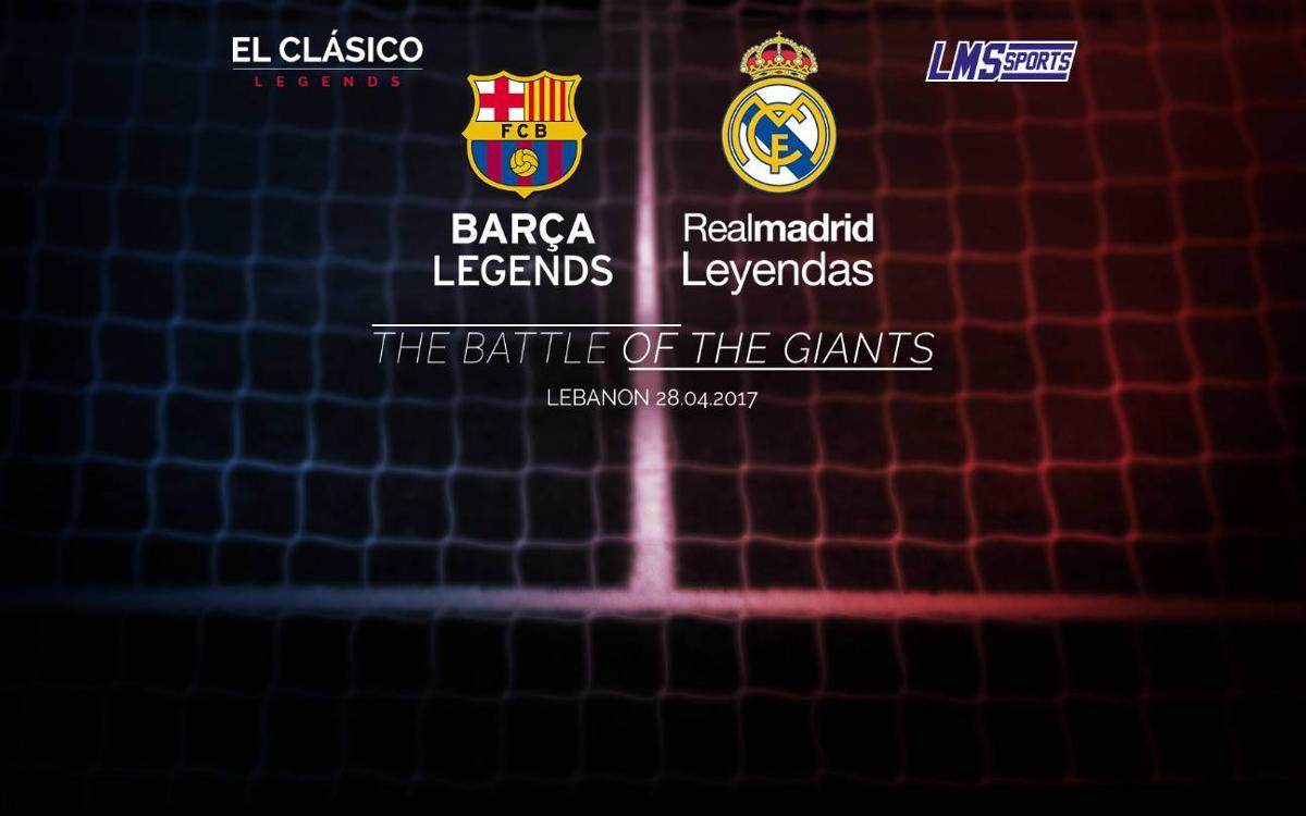 Las leyendas del FC Barcelona y el Real Madrid jugarán en el Líbano