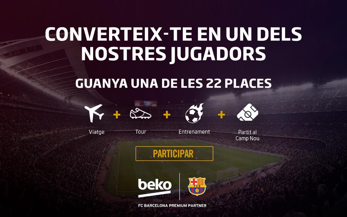Vols sentir-te com un jugador del primer equip del FC Barcelona?