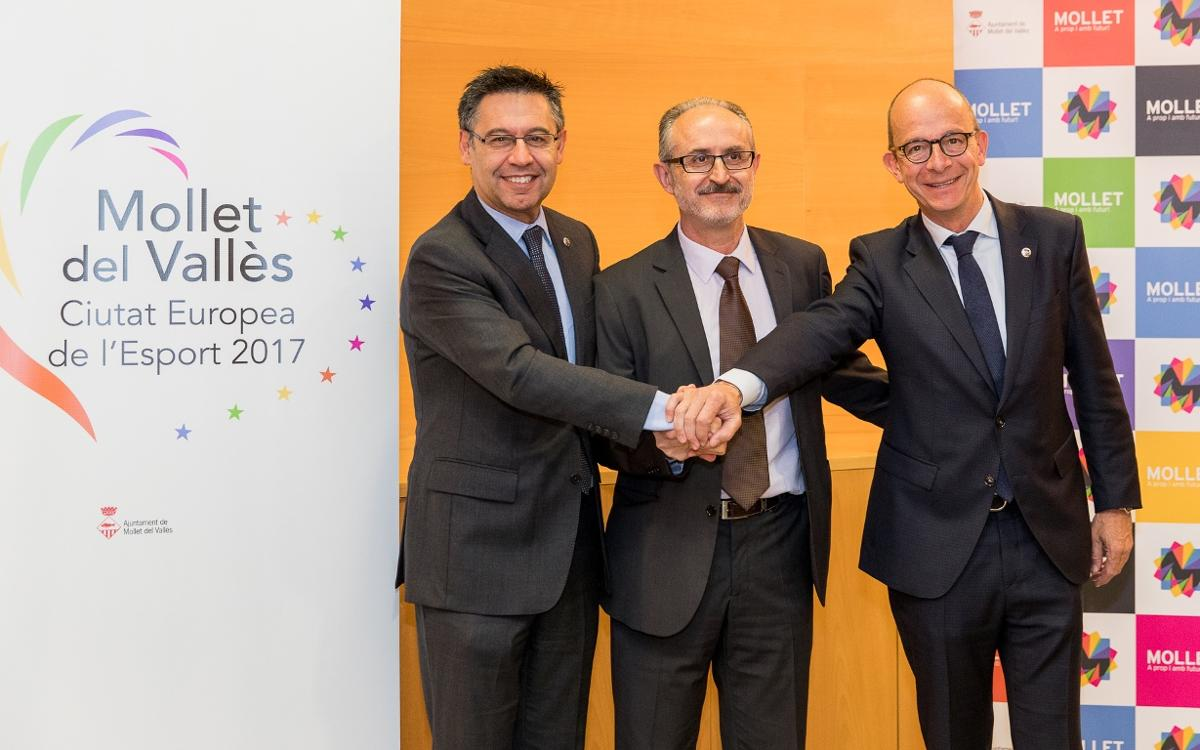 El FC Barcelona, con Mollet 'Ciudad Europea del Deporte 2017'