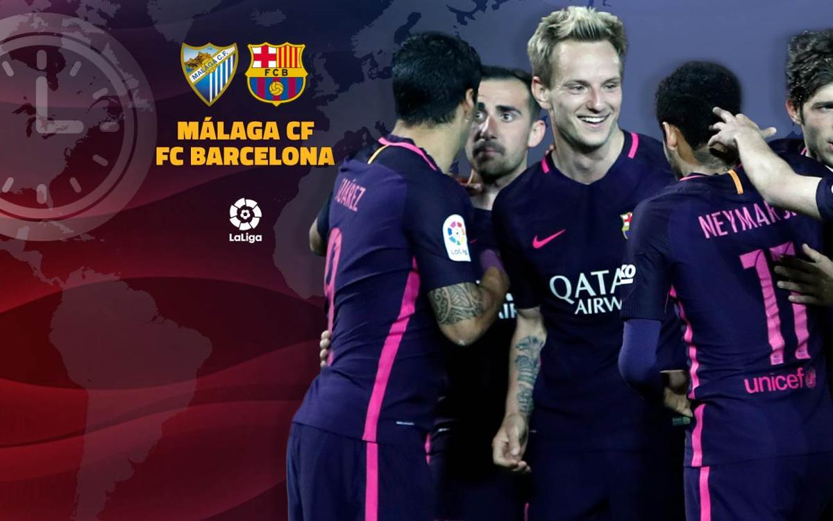 When and where to watch on TV Málaga v FC Barcelona in La Liga