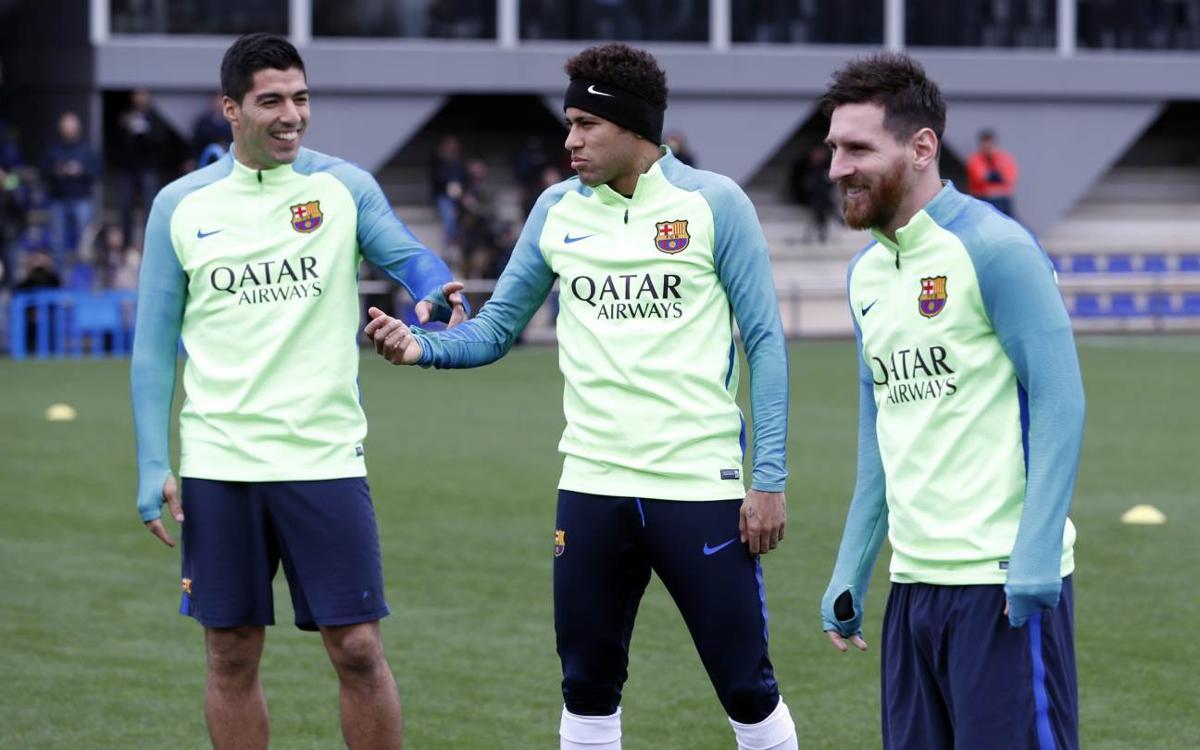 Final training session ahead of the league match against Celta Vigo