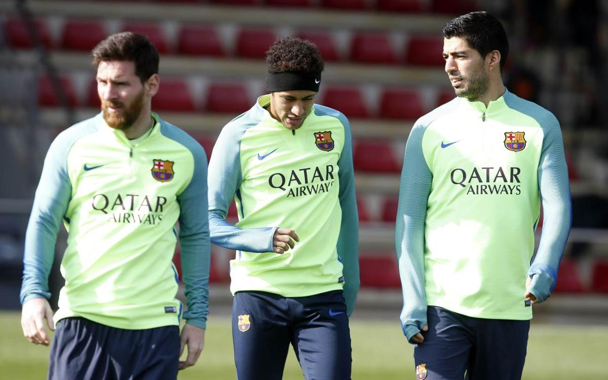 Last training session before Leganés come to town