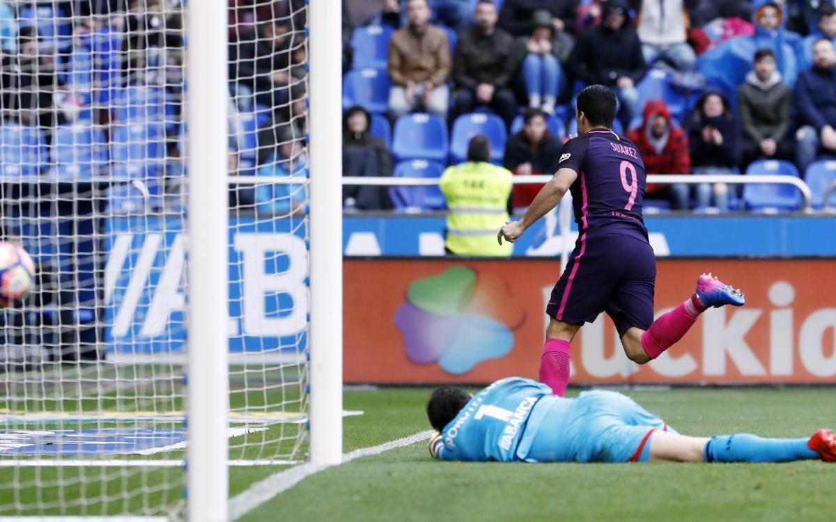 Primera derrota del FC Barcelona con gol de Luis Suárez
