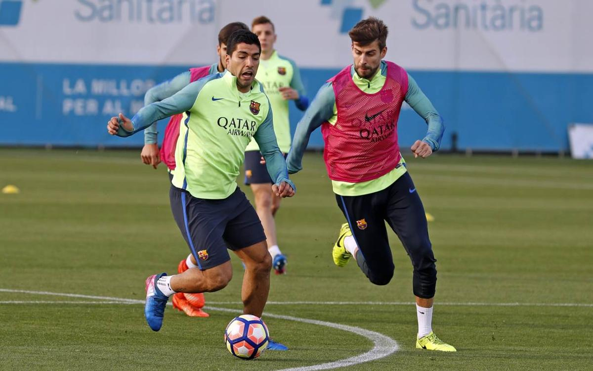 FC Barcelona's final training session prior to the trip to Riazor to face Deportivo