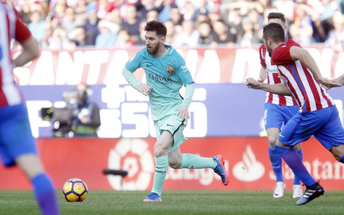 Messi prend ses habitudes au Calderón face à l'Atlético de Madrid