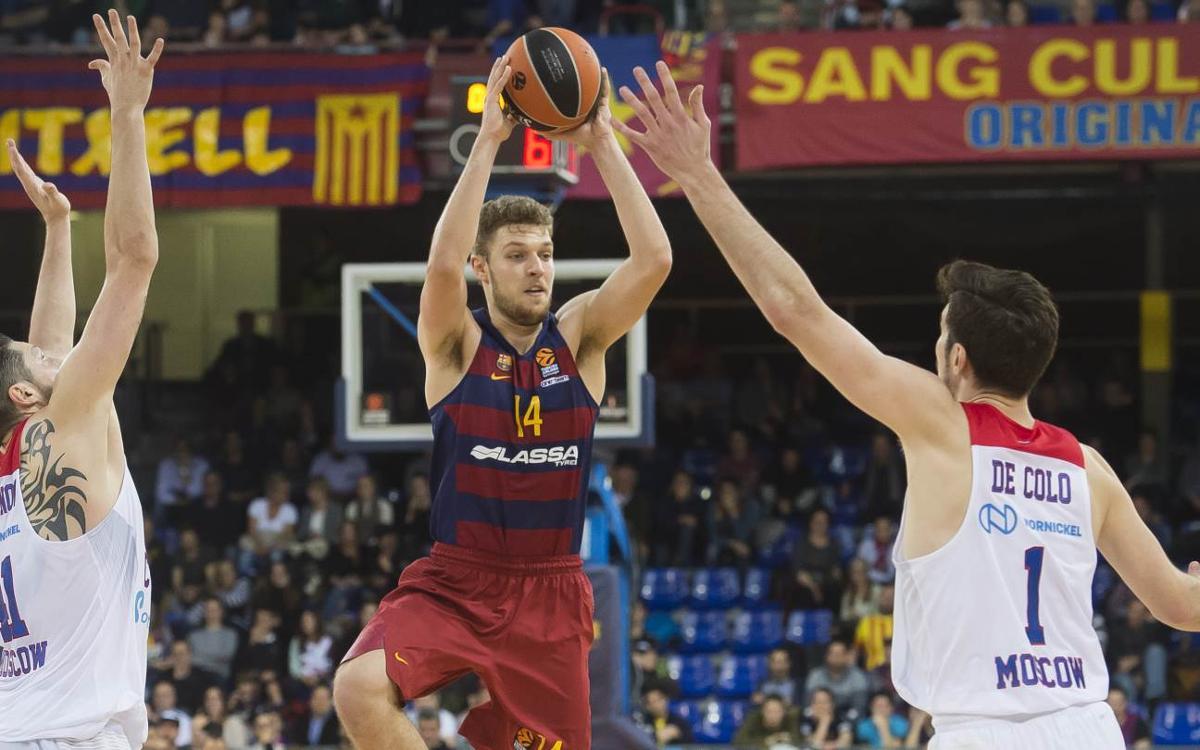 FC Barcelona Lassa - CSKA Moscú: El primer cuarto decide la derrota (61-85)