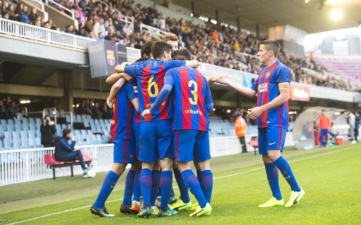 FC Barcelona B – UE Llagostera: Festival goleador en el Miniestadi (4-0)