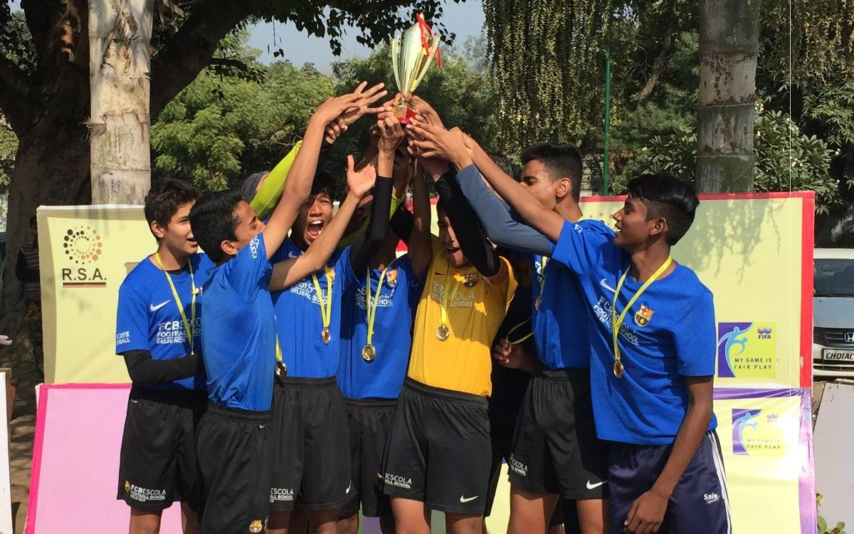 Three titles for FCBEscola Delhi at RSA Cup