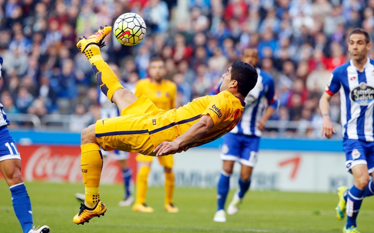 21 goles del FC Barcelona en los últimos cuatro partidos contra el Dépor