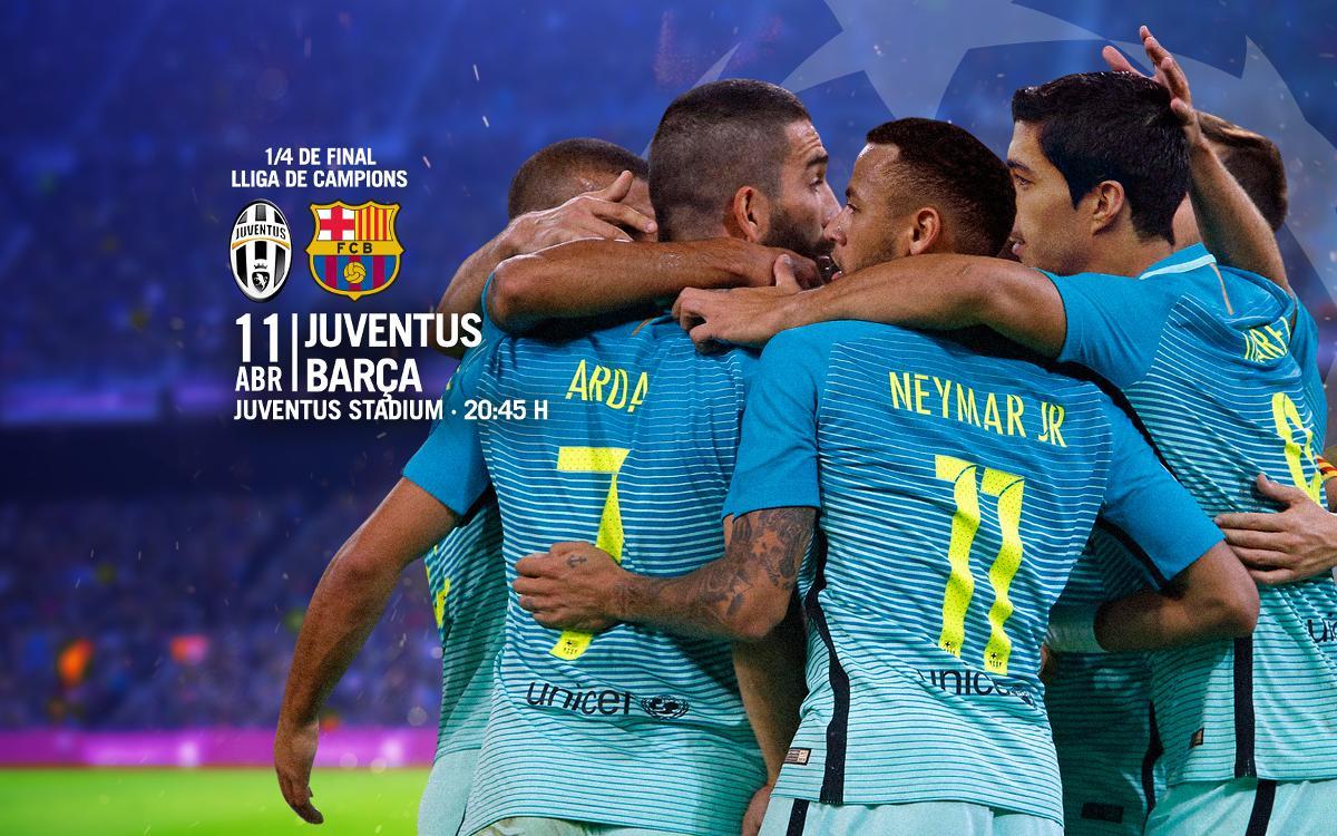 Entrades Juventus - Barça de Lliga de Campions