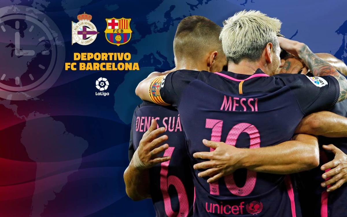 When and where to watch Deportivo La Coruña v FC Barcelona
