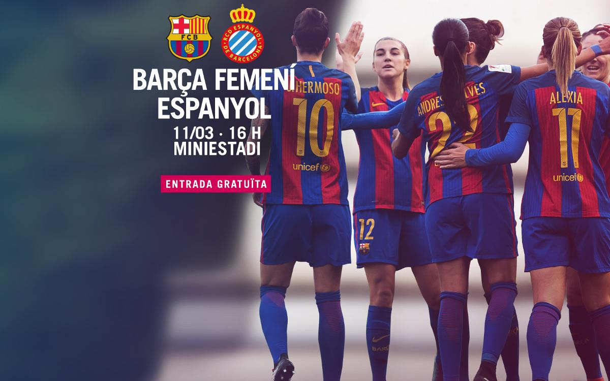 FC Barcelona Femení – RCD Espanyol (prèvia): Tarda de derbi al Mini