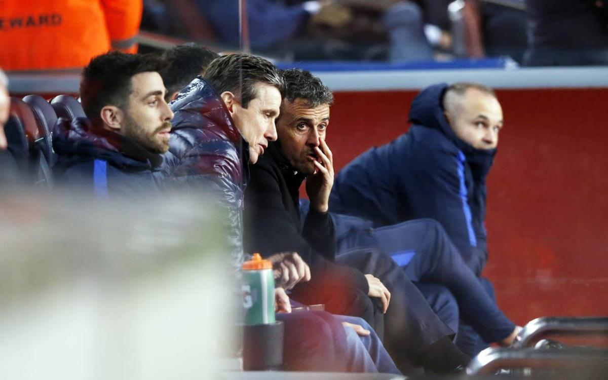 This is how FC Barcelona's Luis Enrique experienced the match against Sporting