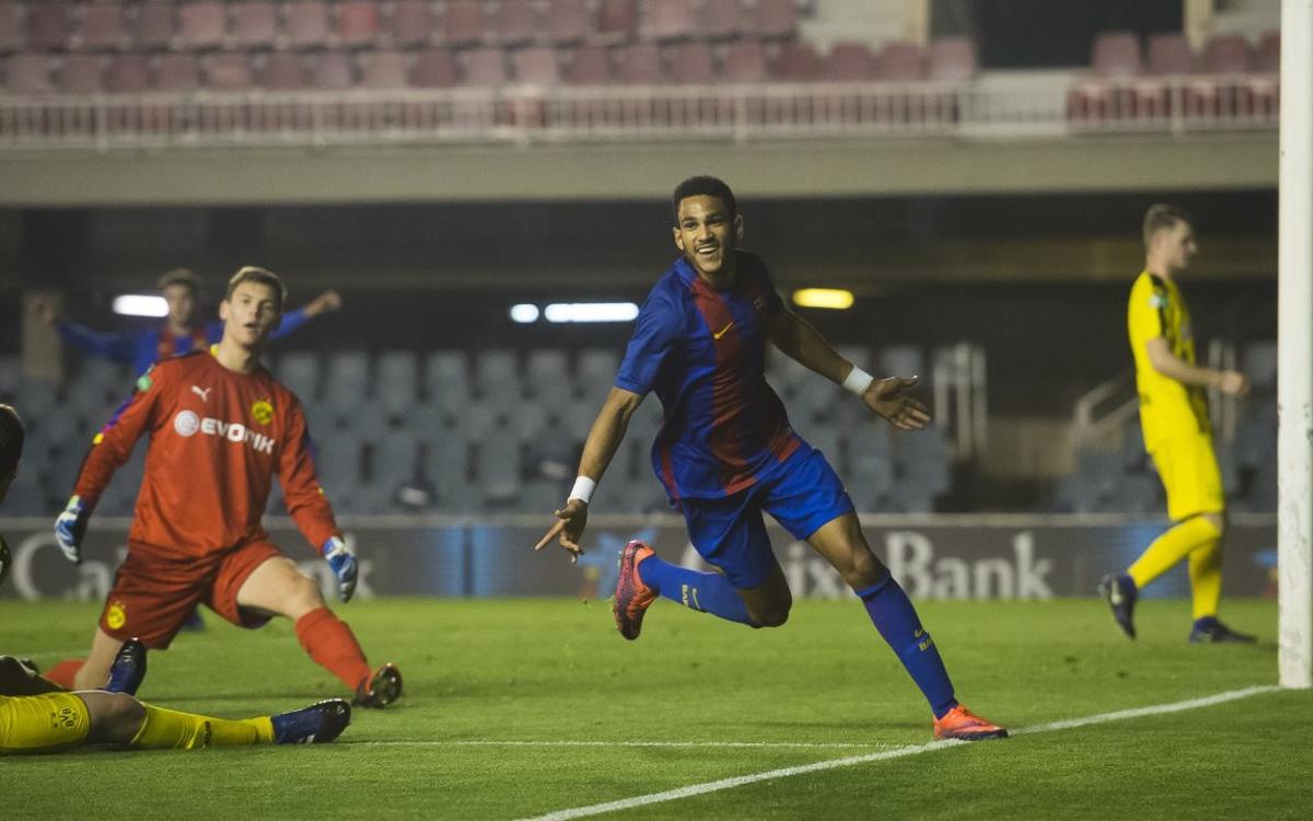 Mboula, protagonista del mejor gol de la semana