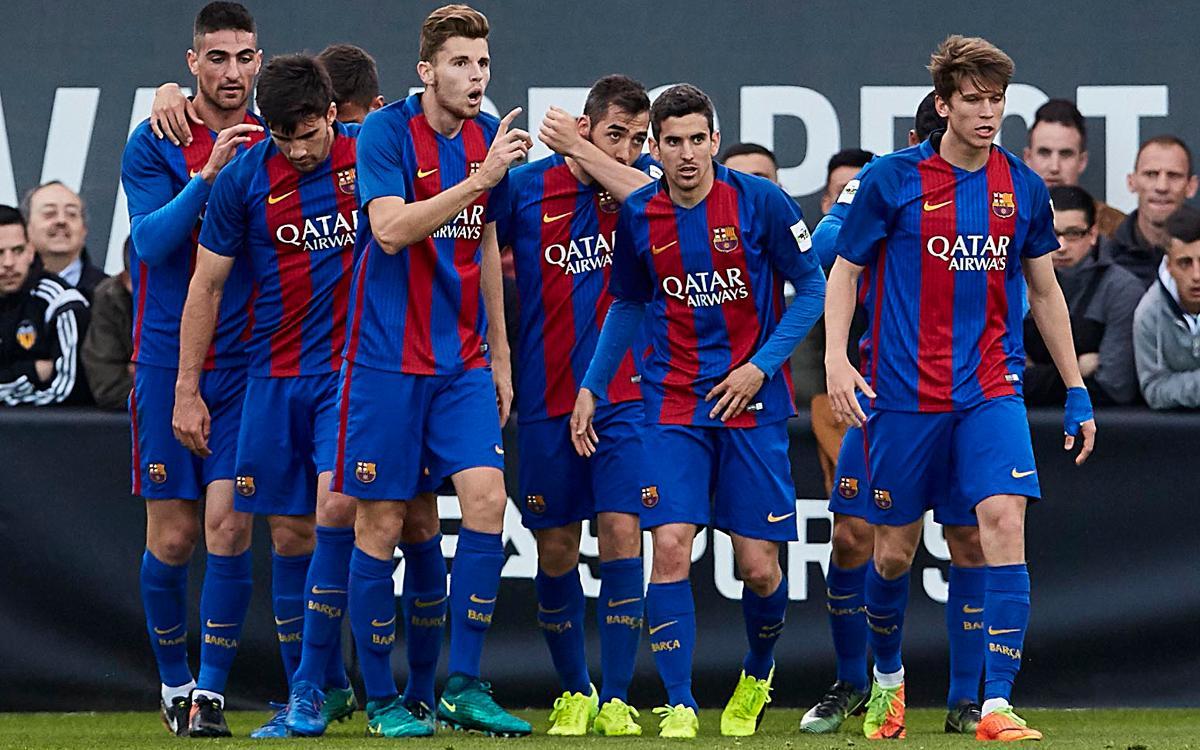 Valencia Mestalla - Barça B: Goleada de prestigio para seguir liderando (0-4)