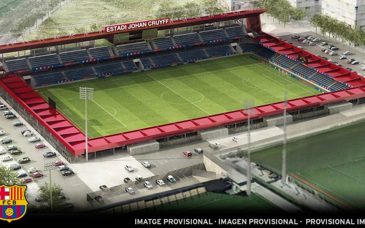 Le futur Miniestadi du FC Barcelone portera le nom de Johan Cruyff