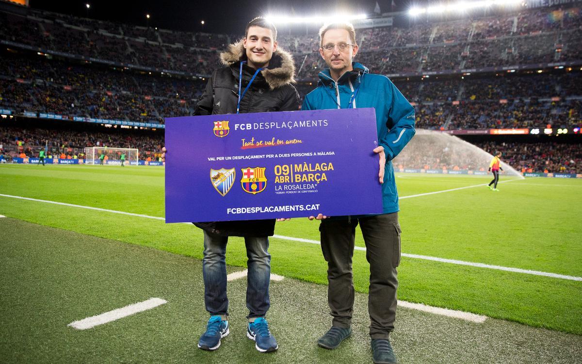 Ganadores de los sorteos del desplazamiento al Calderón