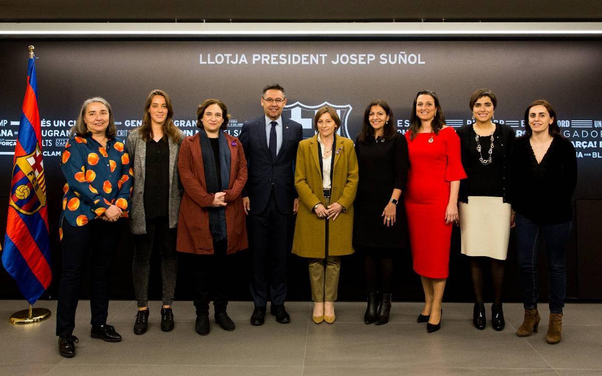 El Barça celebra el Día Internacional de la Mujer en el Palco President Suñol