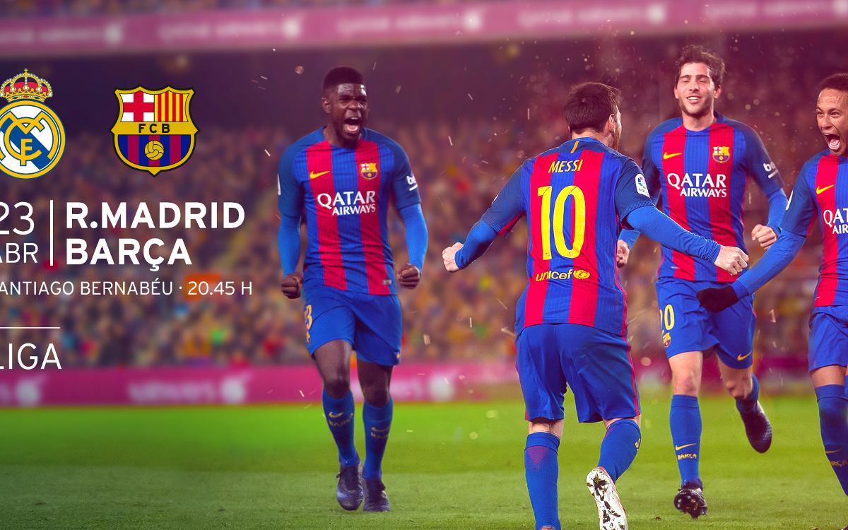Entradas R. Madrid - Barça de Liga