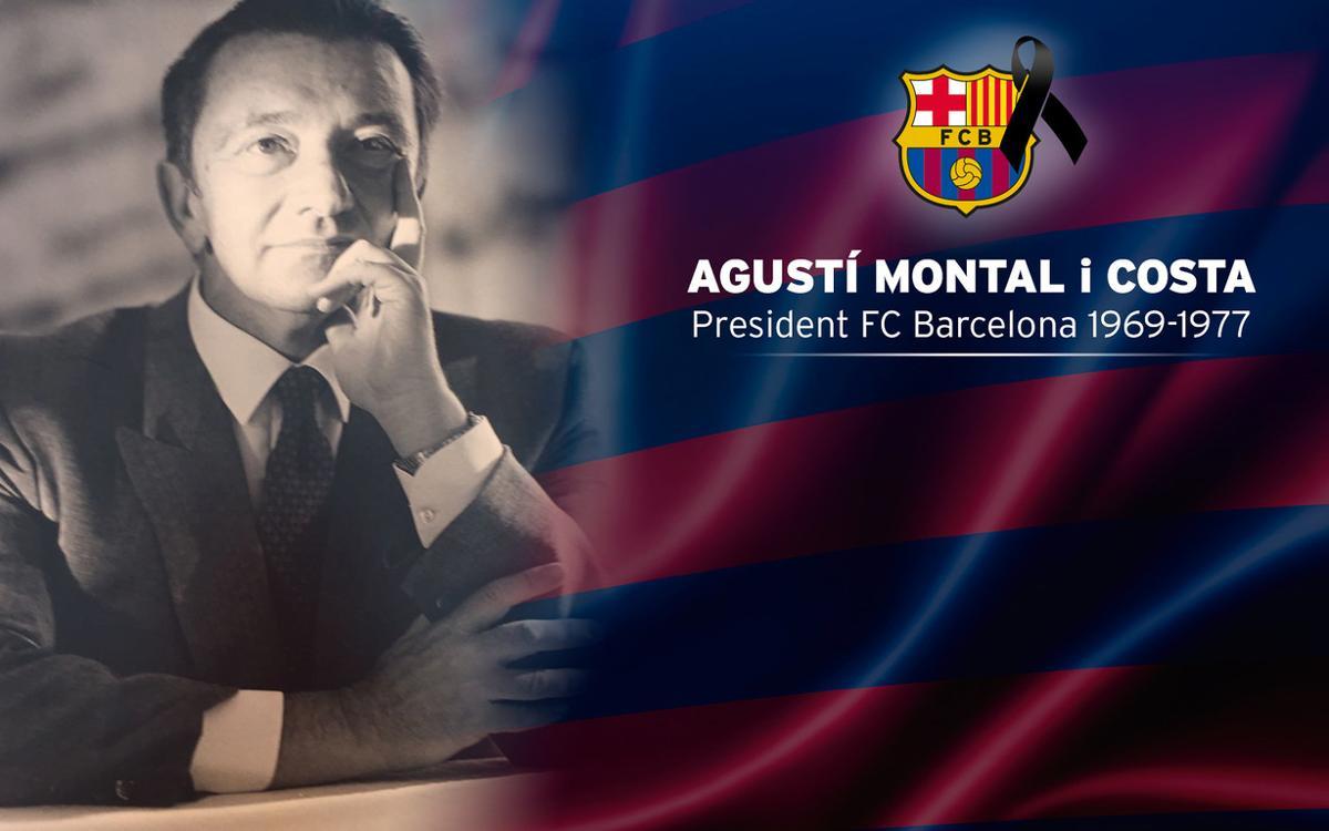 Defunció d'Agustí Montal