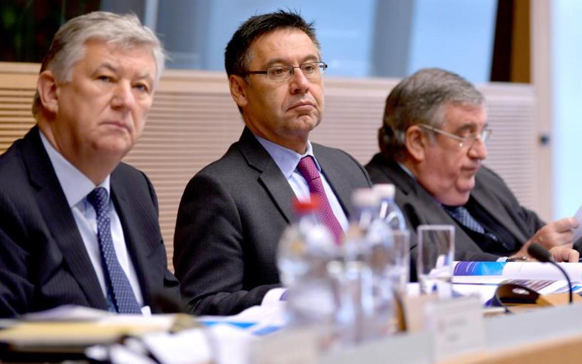 Bartomeu, en la reunión del comité de competiciones de Clubes de la UEFA