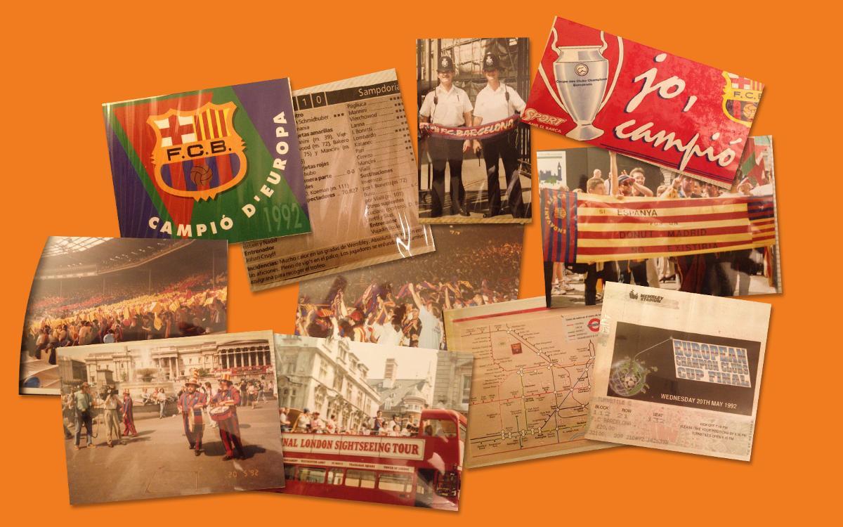Primeros materiales para la exposición del 25 aniversario de Wembley