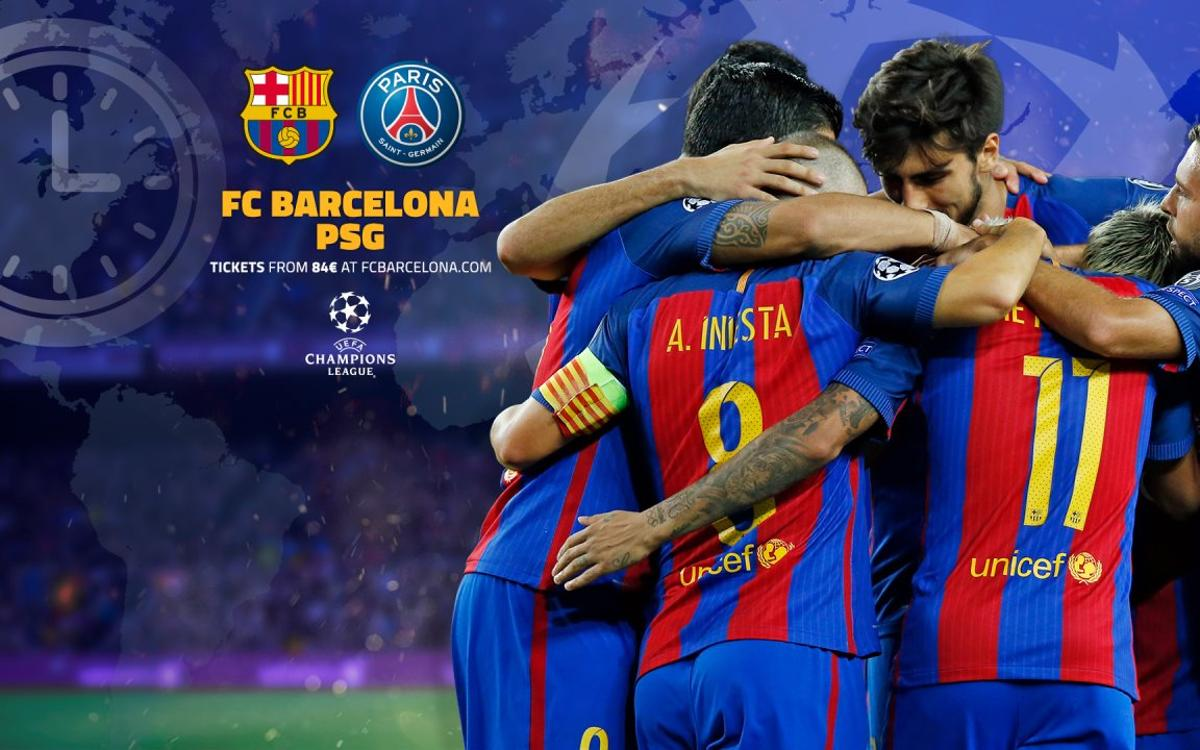 When and where to watch FC Barcelona v PSG