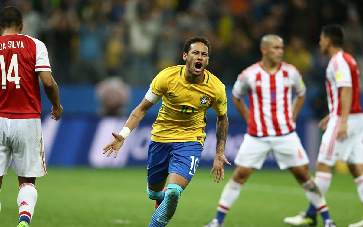 Neymar leads Brazil to qualification with win over Paraguay
