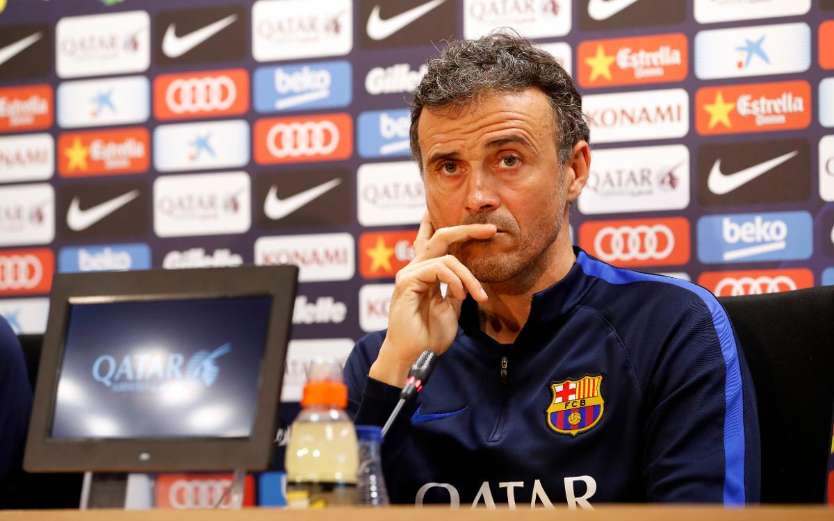 FC Barcelona's Luis Enrique: 'I trust my players' experience, they know there is a lot at stake'