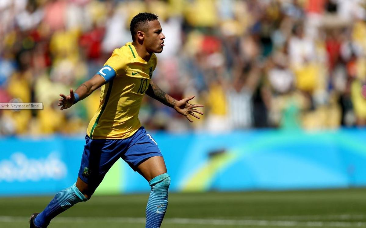 Neymar and Rafinha into Olympic final