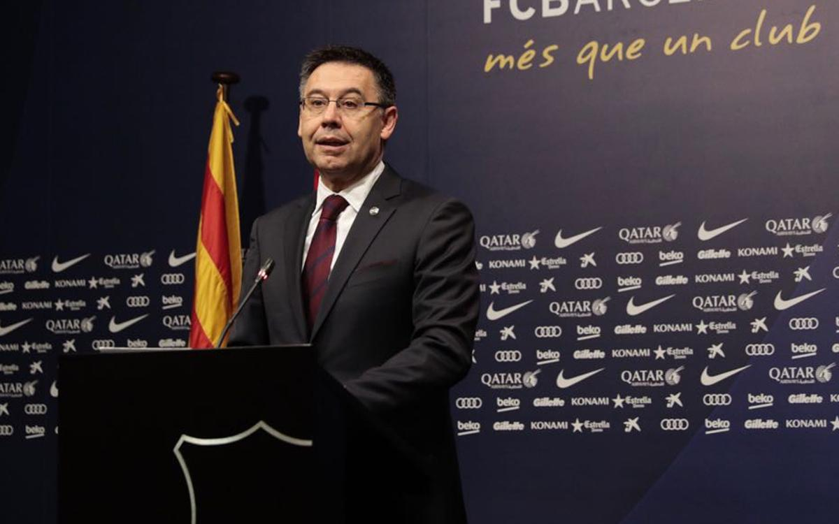 Bartomeu: 'We have lost a good man and a great FC Barcelona figure