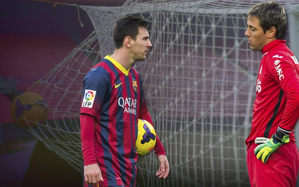 Leo Messi and Diego Alves: old foes meet again